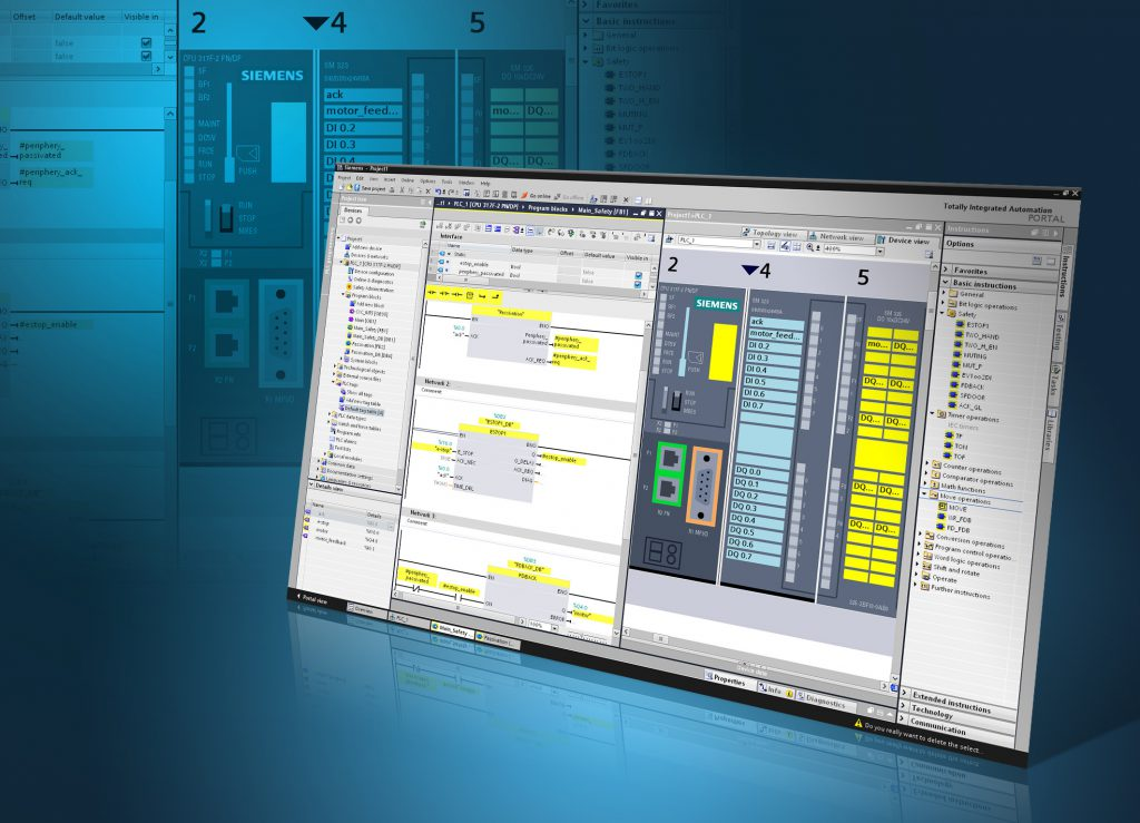 "Das Engineering fehlersicherer Applikationen hat die Siemens-Division Industry Automation in ihr Engineering Framework TIA Portal integriert. Unter der ""Step 7 V11-Bedienoberfläche"" stellt das neue Engineeringtool Step 7 Safety Advanced jetzt alle für die Erstellung eines sicherheitsgerichteten Programms erforderlichen Projektier- und Programmierwerkzeuge bereit.